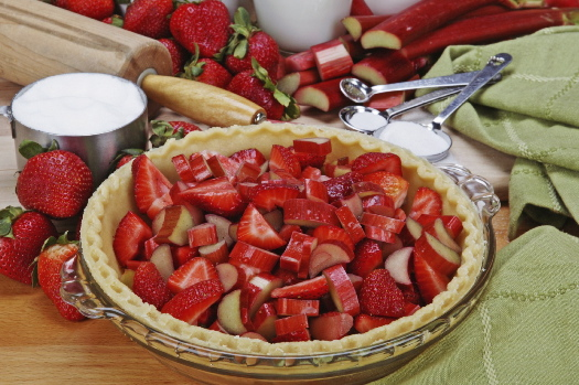 Susie Norris' Strawberry-Rhubarb Pie